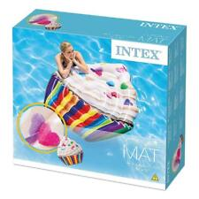 """INTEX CUPCAKE MAT INFLATABLE 56"""" X 53"""" GIANT FLOAT POOL LOUNGER LILO"""