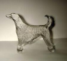 KOSTA BODA AFGHAN HOUND DOG ART GLASS PAPERWEIGHT BERTIL VALLIEN  KENNEL SWEDEN