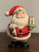 VTG Homco Ceramic Santa With Gifts Piggy Bank