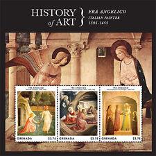 Grenada- 2013 History of Art Stamp- sheetlet of 3 SC#3890