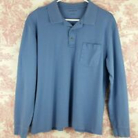 Croft & Barrow Mens Shirt Polo Long Sleeve Size Large