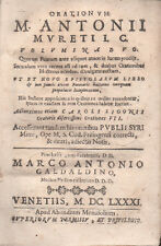 1681 – MURET, ORATIONUM VOLUMINA DUO – TEOLOGIA FILOLOGIA LETTERATURA LATINA