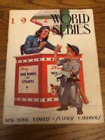Original 1942 World Series Program - NY Yankees vs St. Louis Cardinals