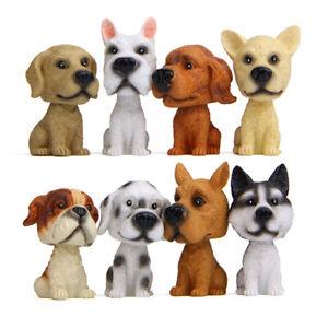 Bobblehead Puppy Nodding Dog Shake Head Toys for Car Furnishing Dashboard Decor