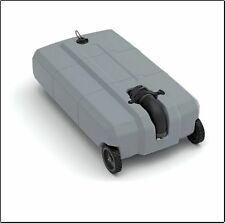 Portable RV 27 Gallon Waste Tank Wheeled For Black Sewer Waste Water Camper Gray