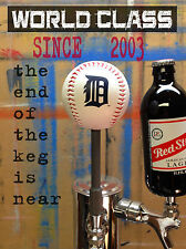 *FREE SHIP* DETROIT TIGERS beer tap handle MLB RAWLINGS LOGO BASEBALL marker BAR