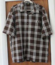 Lowrider Mens Brown Plaid Button Down Shirt EUC XXL 2XL