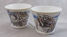 Villeroy & and Boch ROLF KNIE CIRCUS 2 x plant pots / planters