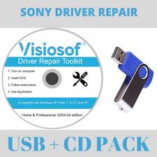 SONY Drivers Software Recovery Repair Restore USB DVD Windows 10 8 7 VISTA XP