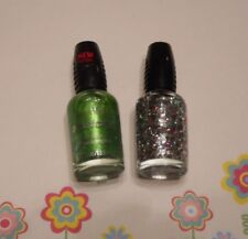 WET N WILD FAST DRY NAIL COLOR - PARTY OF FIVE GLITTERS & SAGE IN THE CITY - NEW