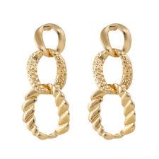 Irregular Circles Geometric Earring For Women New Gold Metal Dangle Drop Earring
