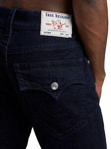 True Religion Men's Rocco Skinny w Flaps Jeans Size 32 x 34 NWT Dark Blue Wash