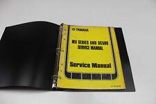 YAMAHA MX SERIES AND SC500 OEM SERVICE MANUAL BOOK 1972-1973 LIT-11613-63-00