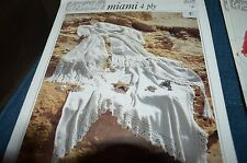 Wendy Knitting Crochet Pattern 3729 Miami 4 Ply Stole & Shawl lace edge