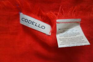 Codello Schal XXL 205cm x 105cm Rot 60%Viskose  Neuwertig!