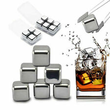 Stainless Metal Ice Cubes Reusable Whiskey Stones Beverage Cooler Chllier 🔥
