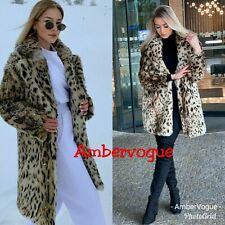 Zara Leopard Faux Fur Animal Print Coat Size S UK 8 10