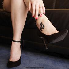 15 x Queen of Spades - Logo in schwarz  - Sexy Kinky Fetish Tattoo (15)