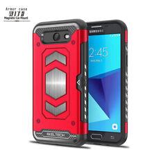 For Samsung Galaxy J3 Eclipse/Luna Pro AKELTECH Brave Hard Case Card Slot Cover