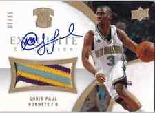 2007-08 Exquisite Collection CHRIS PAUL Auto 4 Color Patch Jersey Card #d 1/35
