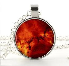 Jewelry - Red Orange Gifts for Women Rosette Nebula Close Up Pendant - Galaxy