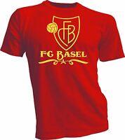 FC Basel of Switzerland UEFA Football Soccer T-shirt handmade red mens jersey