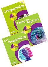 Coding for Beginners, C Programming, C++ Programming in easy steps books set