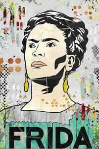 Frida Kahlo Poster Limited Edition out of 250 - Painter Mexican Artist 13x19 in.