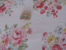 Cath Kidston Spring Bouquet Flowers white 1M / 1.35M wide lightweight fabric new