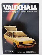 Vauxhall UK All-Model-Catalogue October-December 1977 Cavalier Chevette Viva etc