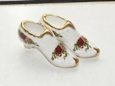 Royal Albert Old Country Roses 2 x Trinket Shoes