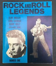 Vtg Rock and Roll Legends book by Alan Clark Elvis Buddy Holly Jerry Lew Lewis