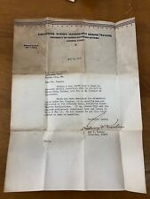 Vtg University Of Kansas Engineering Science Defense WWII KIA Letter 1942 Class