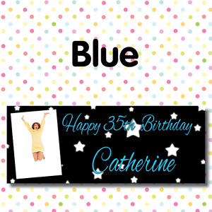 PERSONALISED PHOTO BIRTHDAY PARTY BANNERS ANY AGE, ANY NAME,ANY EVENT A002