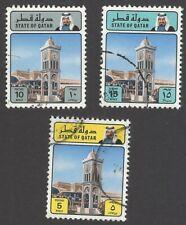 Qatar 1982 5R, 10R & 15R Scott #626-28 used