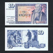 1961 ICELAND 10 KRONUR P-48a UNC> > >ARNGRIMUR JONSSON A PREFIX LOW 000014XX NR