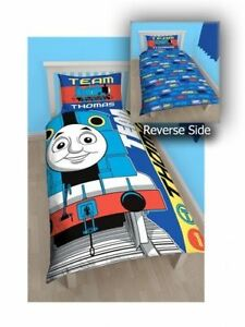 Thomas The Tank Engine 'Team' Reversible Panel Single Bed Duvet Quilt Cover Set