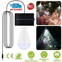 Portable Solar Power LED Light Bulb Lamp Indoor Outdoor Garden Camping Tent Lamp