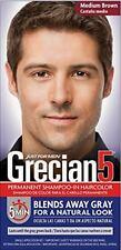 Grecian5 for Men, 5 Minute Permanent Shampoo-In Haircolor, Medium Brown
