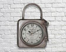 Retro Industrial French Vintage Metal Padlock Wall Clock Large Display 54cm