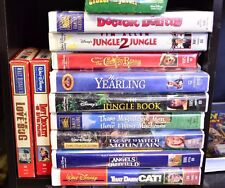 Disney Family Movie Classic Lot VHS Crockett Herby Darn Flying Dolittle Angels