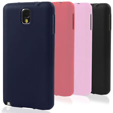 Slim Case for Samsung Galaxy Note 3 Phone Cover Plain Rubber Shell Mat Bumper