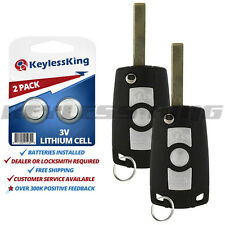 2x Replacement Remote Keyless Entry Flip Car Key Fob for BMW LX8 FZV