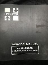 Hyster Service Manual Challenger H60E H70E H80E H100E H110E Form No. 599886
