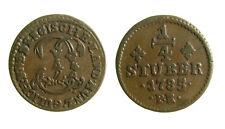 s291_36)  German States JÜLICH-BERG 1/4 Stüber KM# 205 1785 PR