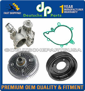 LAND ROVER RANGE ROVER WATER PUMP + PULLEY + RADIATOR FAN CLUTCH COOLING KIT 4