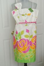 KATE SPADE Spring Floral Strapless Casual Sundress with Belt, Size 6