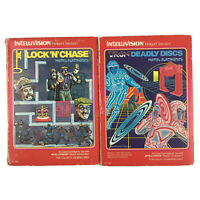 Intellivision Mattel Boxed Game Bundle: Lock 'n' Chase And Tron Deadly Discs