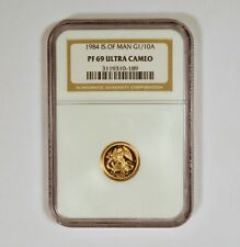 1984 Isle of Man 1/10 Angel gold coin NGC graded PF69 Ultra Cameo  mintage 5,000
