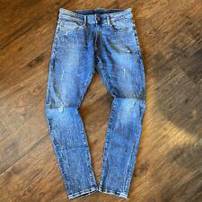 G-Star Raw 3301 DECONSTRUCTED SUPER SLIM Mens Blue Jeans W31 L30 (R)